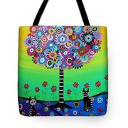 Day Of The Dead Cat'slife Tote Bag