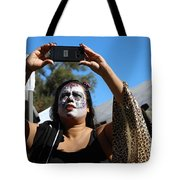 Day Of The Dead Iphone Woman Tote Bag