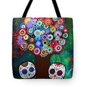 Day Of The Dead Love Offering Tote Bag