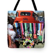 Day Of The Dead Truck Decorations  Tote Bag