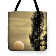 Daybreak On A Country Road Tote Bag