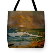 Daybreak On The Dunes Tote Bag