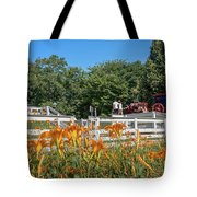 Daylilies And Oxen Wagon Tote Bag
