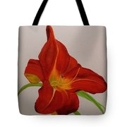 Daylilly In Red Tote Bag