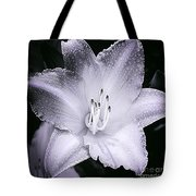 Daylily Flower With A Tint Of Purple Tote Bag