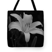 Daylily In Black And White Tote Bag