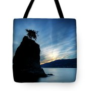 Day's End At Siwash Rock Tote Bag