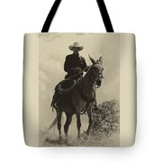 Days Of Old Miss Aleto And The Cowboy Tote Bag
