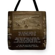 Daytona 200 Plaque Tote Bag by David Lee Thompson