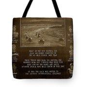 Daytona 200 Plaque Tote Bag