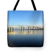 Daytona Beach's Broadway Bridge  Tote Bag