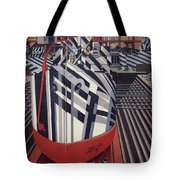 Dazzle Ships In Drydock At Liverpool Tote Bag