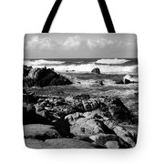 Dazzling Monterey Bay B And W Tote Bag