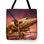 Dc-3 In Surreal Evening Light Tote Bag