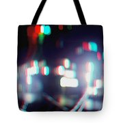 Dc Lights - Use Red-cyan 3d Glasses Tote Bag