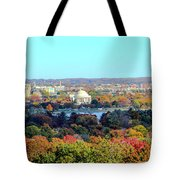 Dc Skyline With Jefferson Memorial Tote Bag