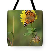 Ddp Djd Painted Lady On Sunflower 2690 Tote Bag