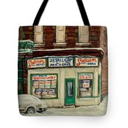 De Bullion Street In  Winter Montreal Tote Bag