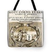 De Motu Cordis, Title Page, William Tote Bag