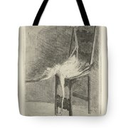 Dead Flamingo With The Legs Tied To The Handrail Of A Chair, Adriaan Pit, 1870 - 1896 Tote Bag