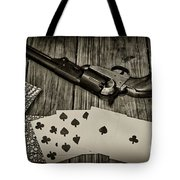 Dead Mans Hand Black And White Tote Bag