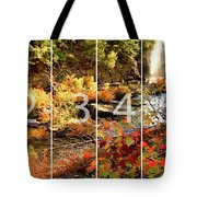 Dead River Falls Marquette Michigan Panoramic Map Tote Bag