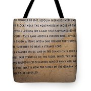 Dead Sea Scroll Document Tote Bag