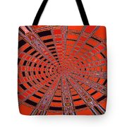 Dead Tree Oval #1 Abstract Tote Bag
