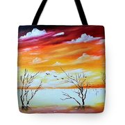 Dead Trees Reflection Tote Bag