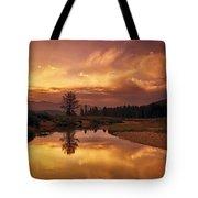 Deadwood River Sunrise Tote Bag