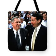 Dean Smith And Mike Krzyzewski Tote Bag