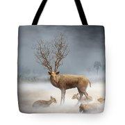 Deer Cool Tone Tote Bag