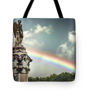 Death And A Rainbow Tote Bag
