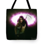 Death Carrying Scythe Tote Bag