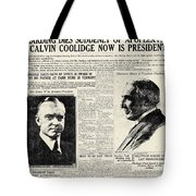 Death Of Harding, 1923 Tote Bag