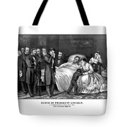 Death Of President Lincoln Tote Bag