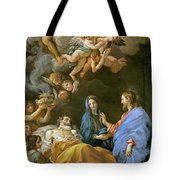 Death Of Saint Joseph Tote Bag