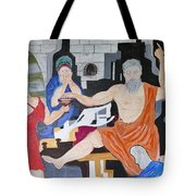Death Of Socrates Tote Bag