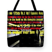 Death On 125th St. Irt Lenox Ave Line Tote Bag