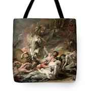 Death On The Pale Horse Tote Bag by Benjamin West