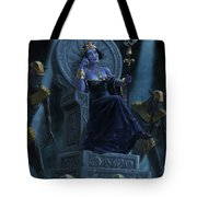 Death Queen On Throne With Skulls Tote Bag