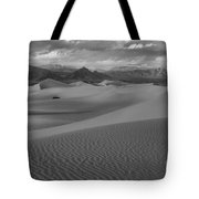 Death Valley Dunes Black And White Tote Bag