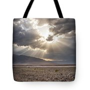 Death Valley Sun Burst Tote Bag