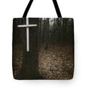 Death Was Here Tote Bag