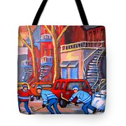 Debullion Street Hockey Stars Tote Bag by Carole Spandau