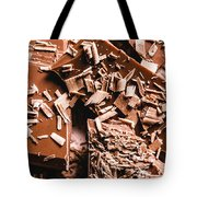 Decadent Chocolate Background Texture Tote Bag