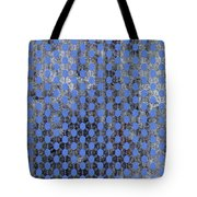 Decadent Urban Blue Patterned Abstract Design Tote Bag