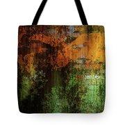 Decadent Urban Brick Green Orange Grunge Abstract Tote Bag
