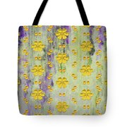 Decadent Urban Bright Yellow Patterned Purple Abstract Design Tote Bag