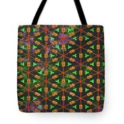 Decadent Urban Orange Green Patterned Abstract Design Tote Bag